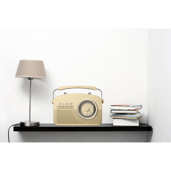 AKAI A60010C RETRO CREAM KITCHEN RADIO