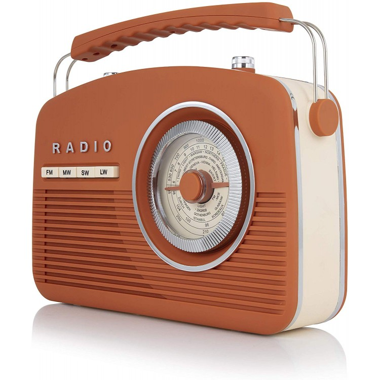 Akai Vintage Radio Burnt Orange |  A60010VBO