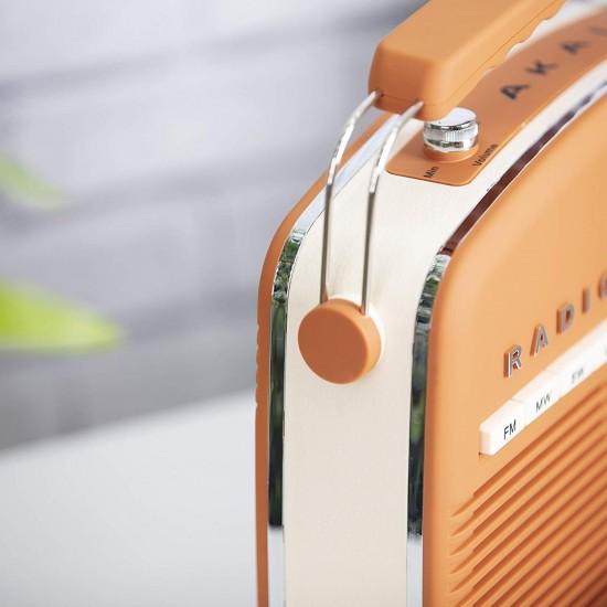 Akai Vintage Radio Burnt Orange |  A60010VBO