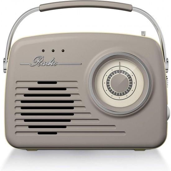 Akai Vintage Radio Taupe |  A60010VT