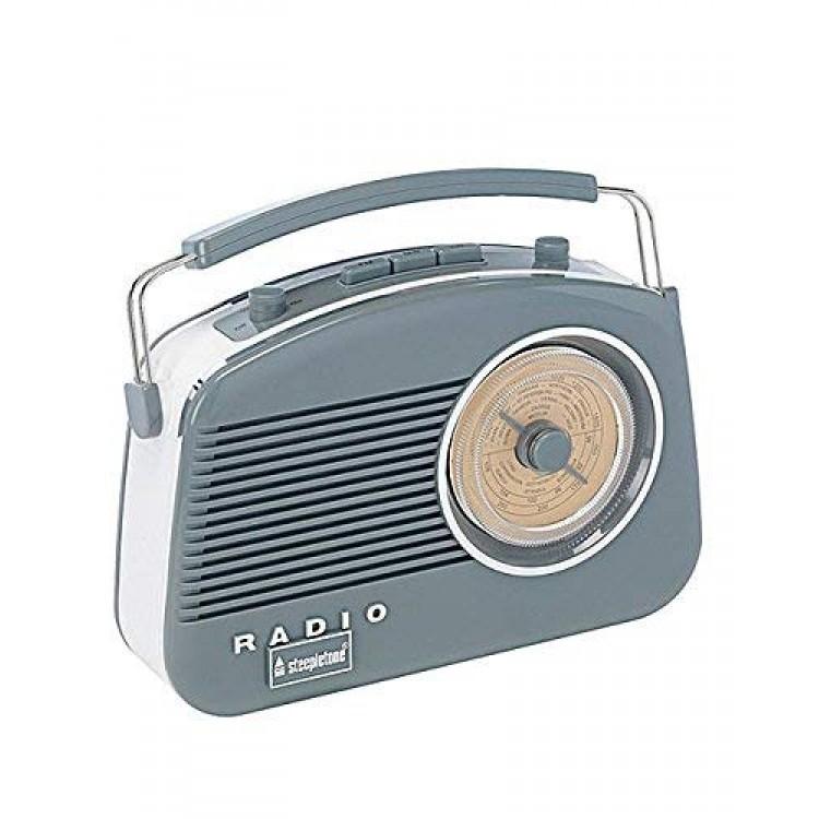Steepletone Brighton Portable Retro Radio GREY