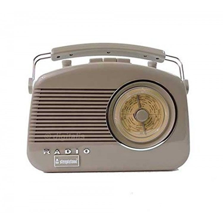 Steepletone Brighton Portable Retro Radio Mocha
