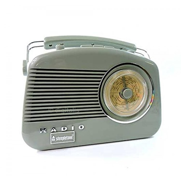 Steepletone Brighton Portable Retro Radio Sage Green - BRIGHTONSG