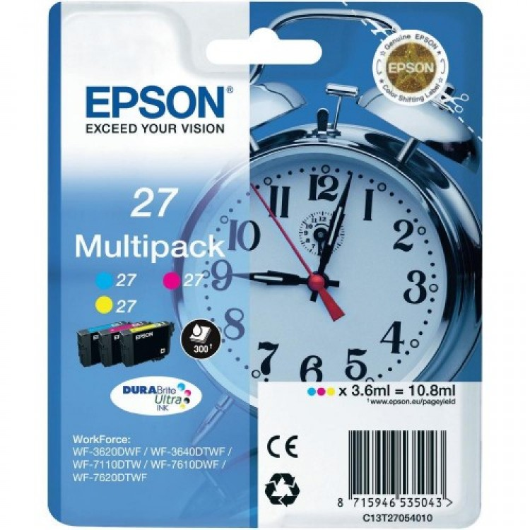 Epson 27 Genuine 3 Colour Ink Cartridge | T2705