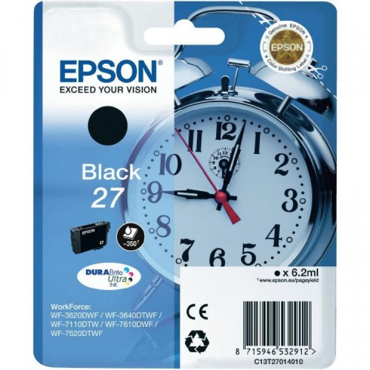 Epson 27 T2701 black ink cartridge original - c13p7014010