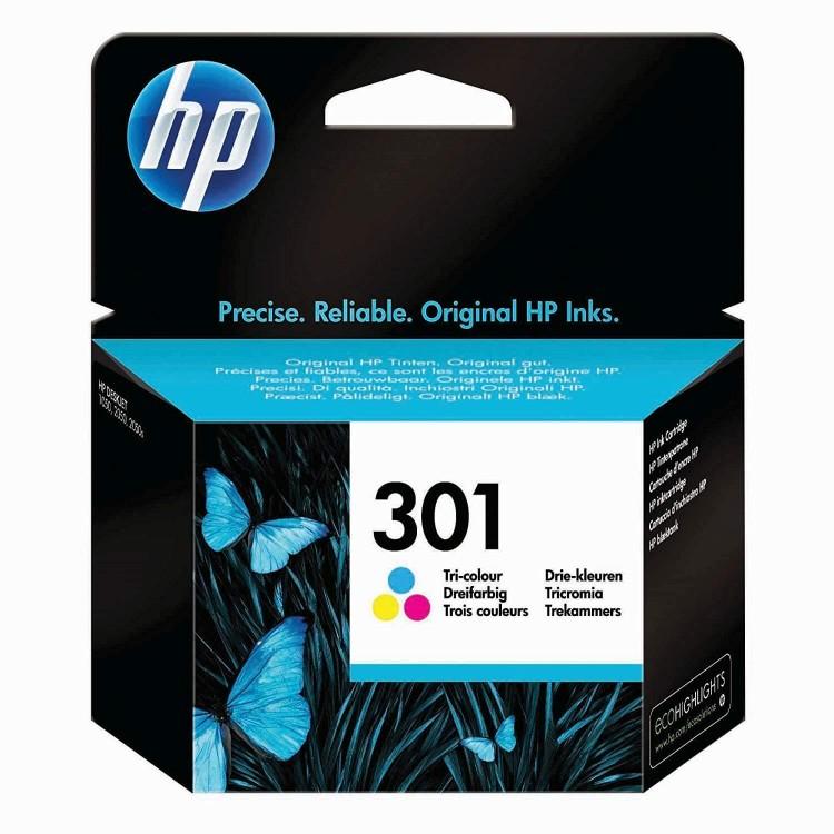 HP 301 Tri-color Original Ink Cartridge | CH562EE