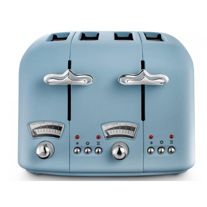 DELONGHI Argento Flora CT04AZ 4 Slice Toaster