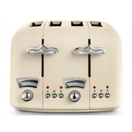 De'longhi Argento Flora Beige 4 Slice Toaster   CT04.BG