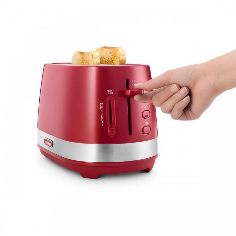 Delonghi Active Line Red 2 Slot Toaster | CTLA2003.R