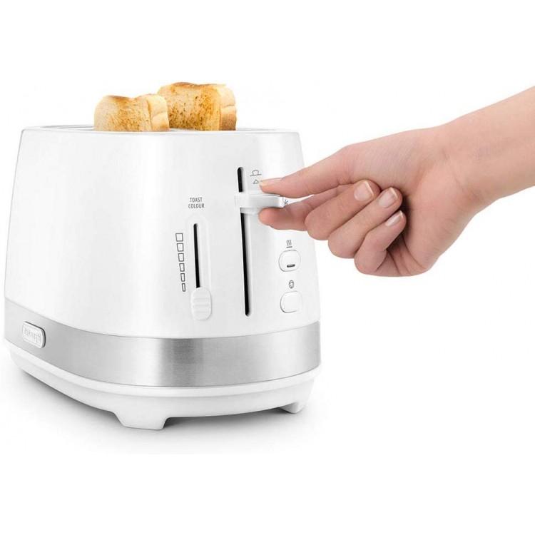 Delonghi Active Line White 2 Slot Toaster | CTLA2003.W