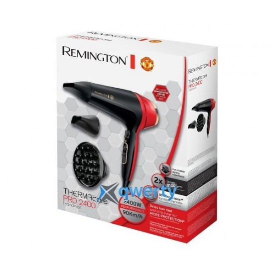Remington Manchester United Edition Thermacare Pro 2400 Hairdryer   D5755