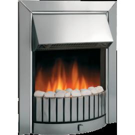 DIMPLEX Delius Chrome Optiflame Electric Inset Fire DLS20