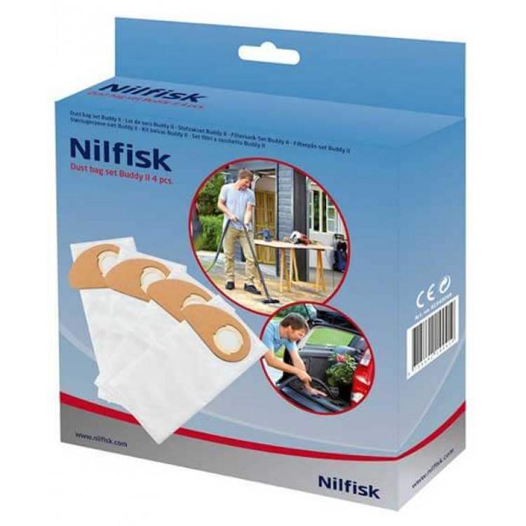 NILFISK EXSSDBUDDY2 DUST BAG 4 PCS FOR BUDDY II