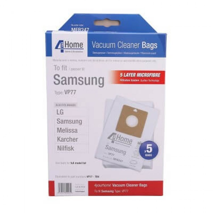 4 Your Home NILFISK Action Bravo Replacement Vacuum Cleaner Bags (EXSMFB247)