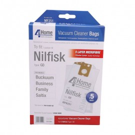 4 Your Home Nilfisk Family-Business Replacement Vacuum Cleaner Bags | EXSMFB251