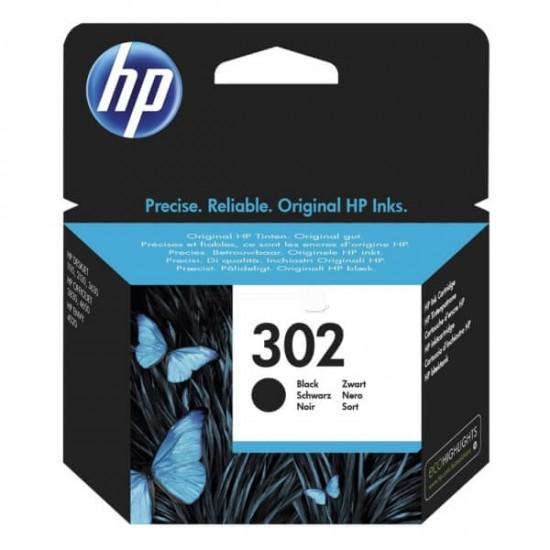 HP 302 Black Original Ink Cartridge   F6U66AE
