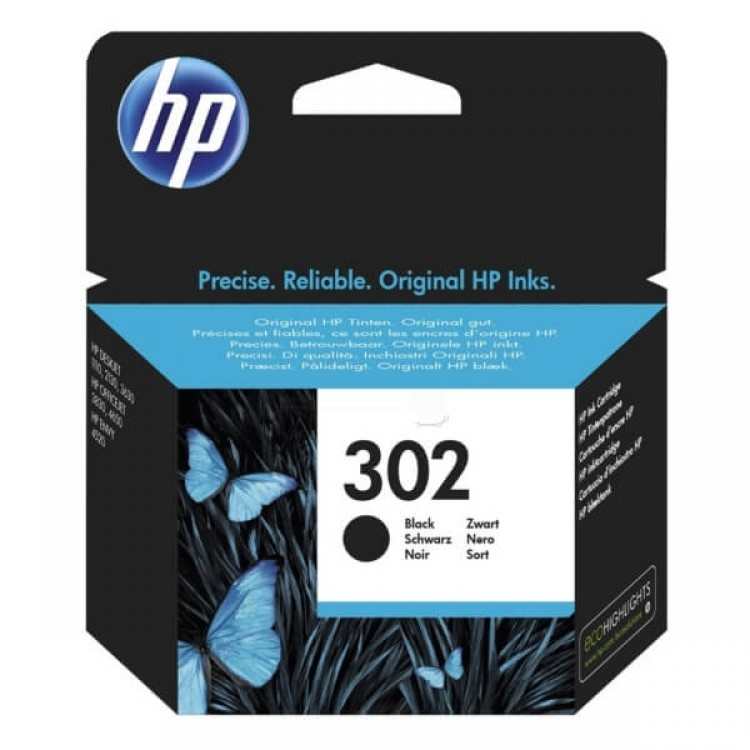 HP 302 Black Original Ink Cartridge | F6U66AE