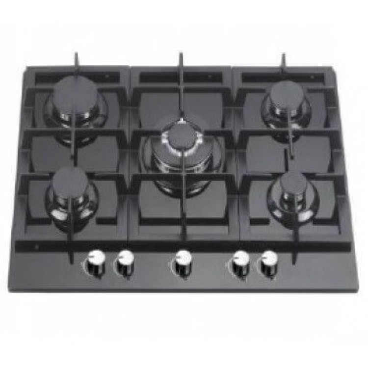 Cata 70cm Gas on Glass 5 Ring Hob | UBGOG70BK