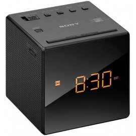 Sony AM/FM Clock-radio with automatic time setting and backup battery Black |  ICFC1B.CEK