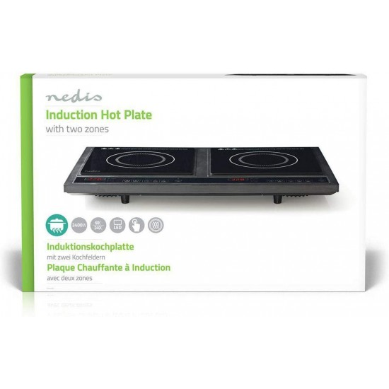 Nedis Double Induction Cooker 3400W   KAIP112CBK2