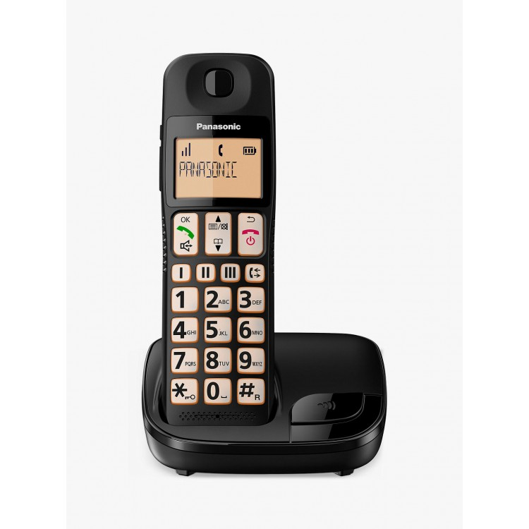 Panasonic KX-TGE110EB Digital Cordless Telephone with Nuisance Call Block