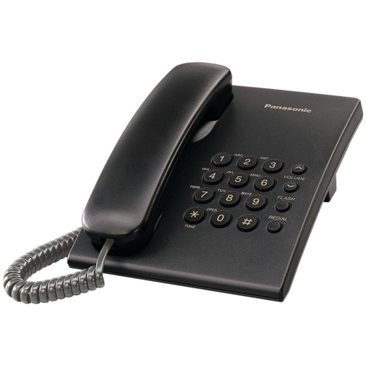 Panasonic KX-TS500B Integrated Telephone with 6-Step Electronic Handset Volume Control