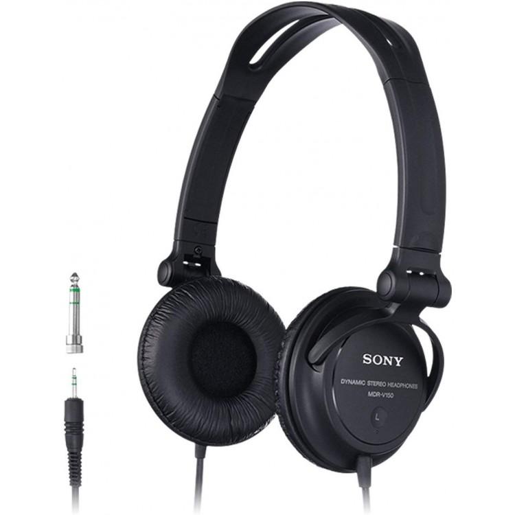 Sony V150 Headphones Black | MDR-V150
