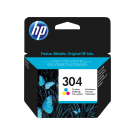 HP 304 Tri-color Original Ink Cartridge   N9K05AE