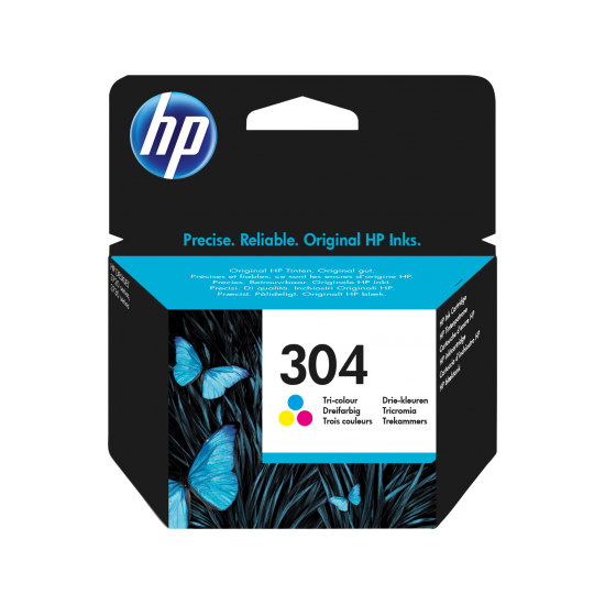 HP 304 Tri-color Original Ink Cartridge | N9K05AE