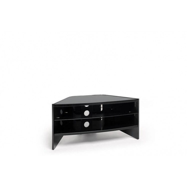 TECHLINK Riva Corner Black gloss with Black Glass shelves RV100B