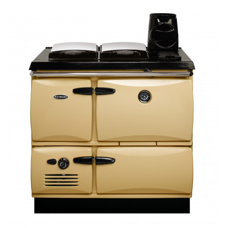 Rayburn Solid Fuel Cooker Cream with Chrome Lids | 370SF