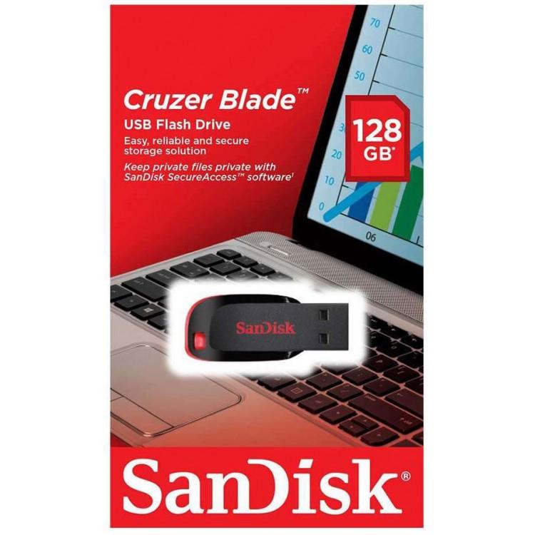 Sandisk Cruzer Blade 128GB Black - SD128GBCZUSB2BK