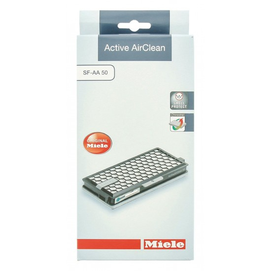 MIELE SF AA 50 Active AirClean filter with timestrip® helps filter unpleasant odours.