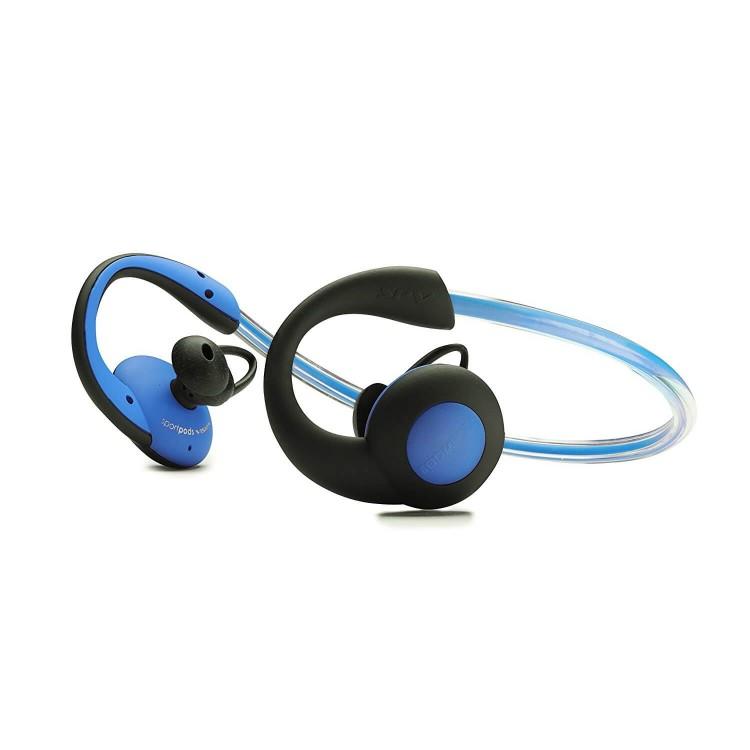 Boompods Sportpods Vision Illuminating Headphones Blue   SPVBLU