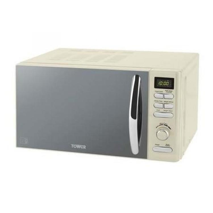 Tower 800W 20L Freestanding Microwave Cream | T24019C