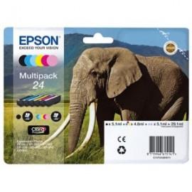 Epson 24 Inkjet Cartridge Multipack B/C/M/Y/LC/LM | T24284010