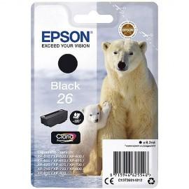 Epson 26 Black Singlepack Claria Premium Ink | C13T26014012