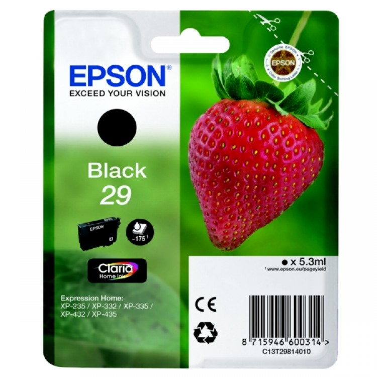 Epson Singlepack Black 29 Claria Home Ink | C13T29814012