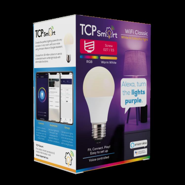 TCP TCPE27COL Wi Fi LED 2700 & RGB E27 Classic Bulb Colour Changing