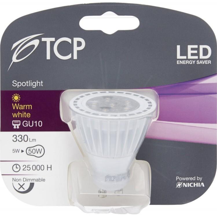 TCP TCPGU10 GU10 5 Watt LED Halogen Spotlight Replacement
