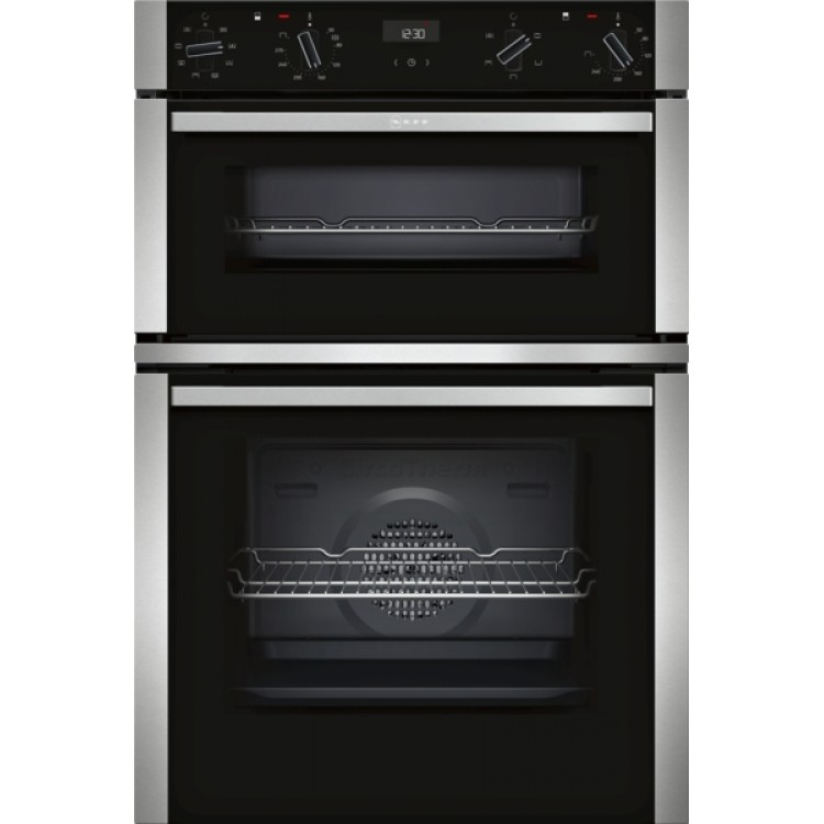 Neff U1ACE2HN0B Built-in Double oven with CircoTherm® - Stainless Steel