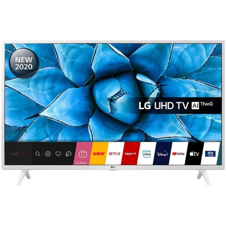 LG UN739 4K Smart UHD TV White 49"