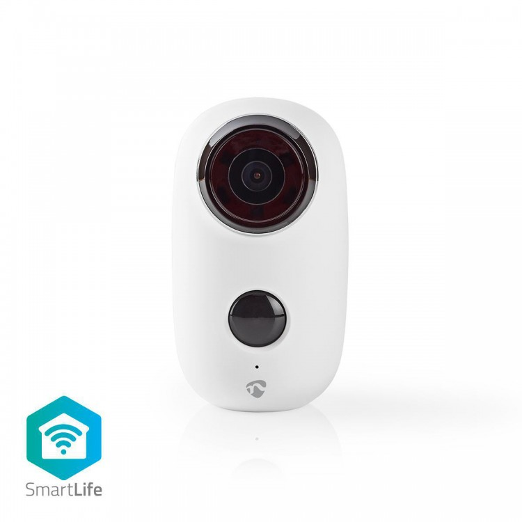 Nedis Rechargeable IP Camera | Outdoor | PIR Motion Sensor | microSD | 6000 mAh | WIFICBO10WT