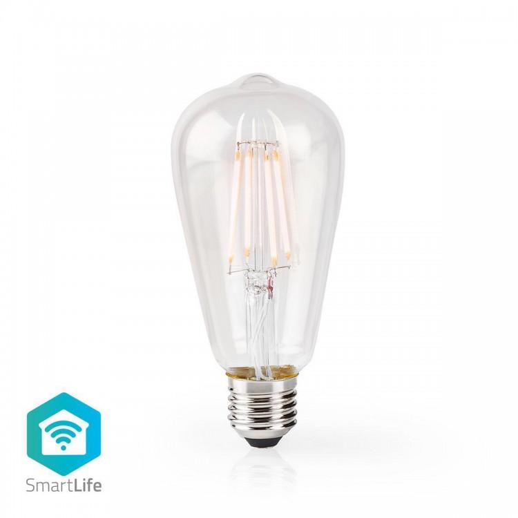 Nedis Wi-Fi Smart LED Filament Bulb E27 ST64 5W 500 lm | WIFILF10WTST64