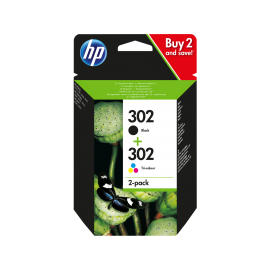 HP 302 2-pack Black/Tri-color Original Ink Cartridges   X4D37AE