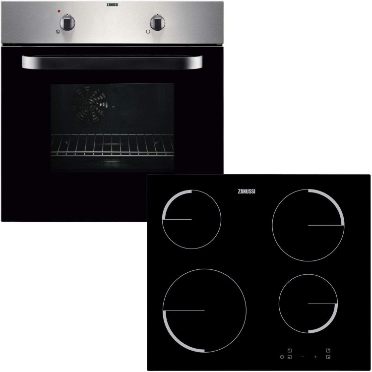 Zanussi ZPVF4130X Single Oven And Ceramic Hob Pack - Stainless Steel