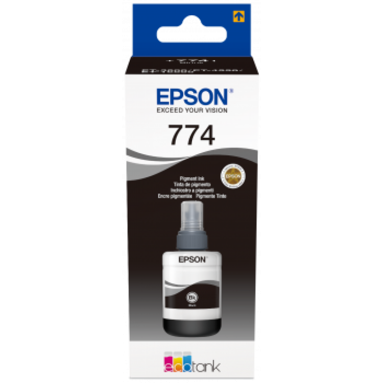 Epson T7741 Pigment Black Ink Bottle 1X 140ML | C13T774140