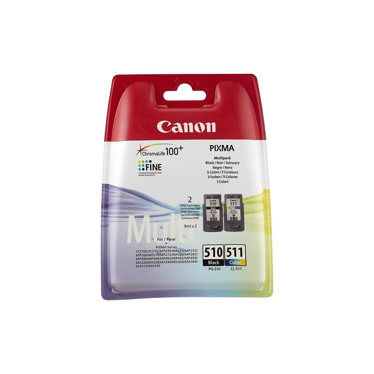 Canon BK/C/M/Y Ink Cartridge Multipack | PG-510/CL-511