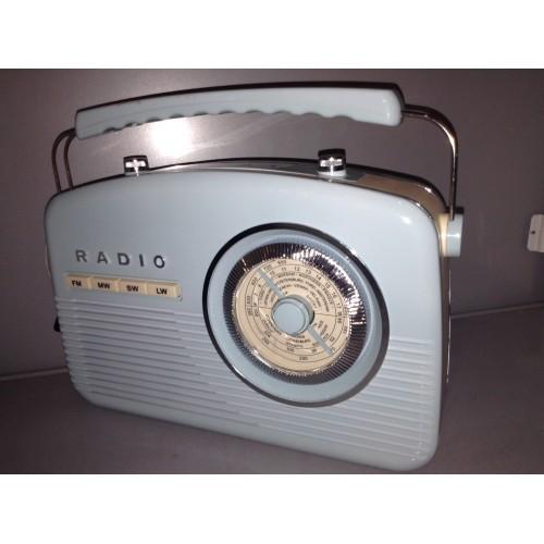 AKAI A60010BL RETRO BLUE KITCHEN RADIO