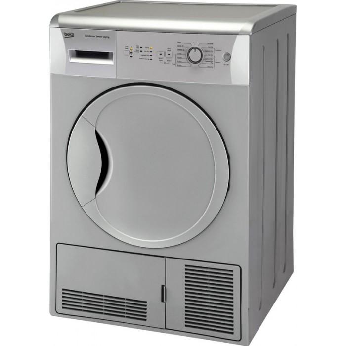 beko dcu7230s 7kg condenser dryer silver. Black Bedroom Furniture Sets. Home Design Ideas